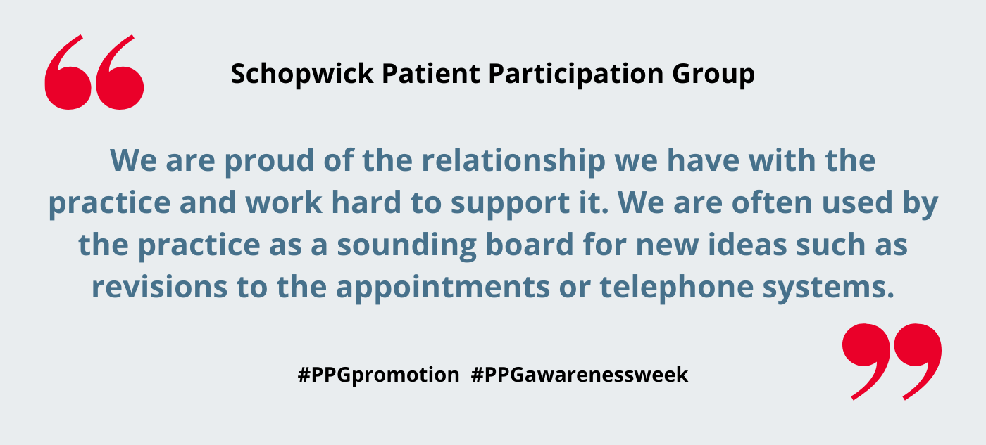 Schopwick Patient Participation Group – PPG Awareness Week