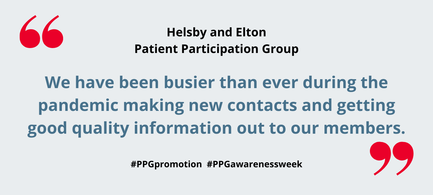 Helsby and Elton Patient Participation Group – how we have supported our practice through the pandemic