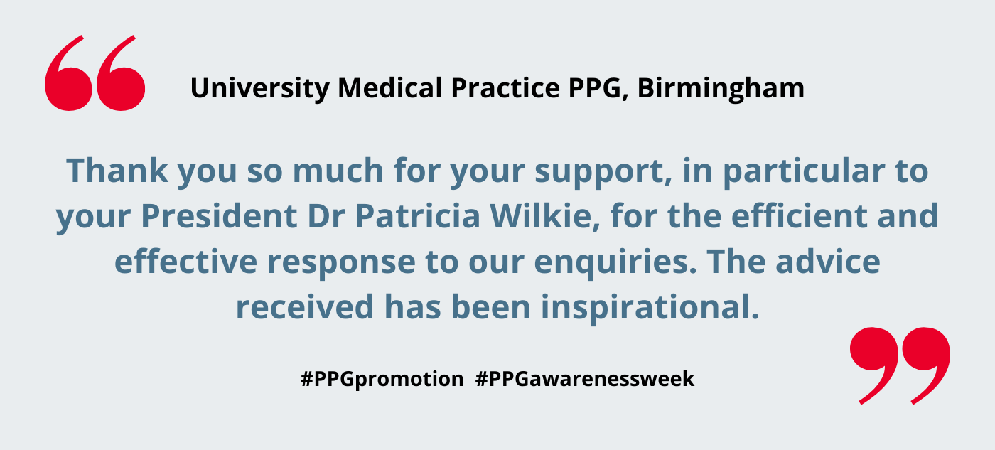 University Medical Practice PPG, Birmingham – our experience in setting up a PPG